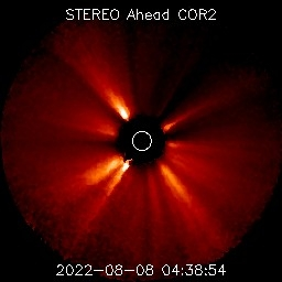 Visible planets on Stereo Ahead Coronagraph 2