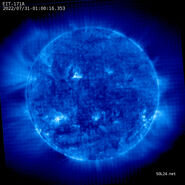 Latest image by SOHO EIT 171A