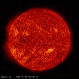 Latest image from SDO AIA 304A