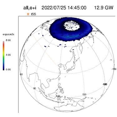 Current auroral activity in the northern hemisphere