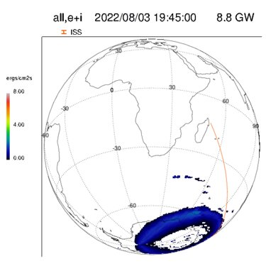 Current auroral activity in the southern hemisphere